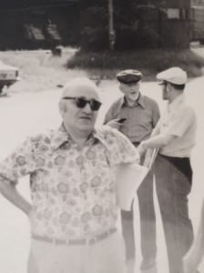 Rothbard (front, he wasn't always in a bowtie) along with Lachmann (back right) and Kirzner at the South Royalton conference, not too far from Lancaster, NH.